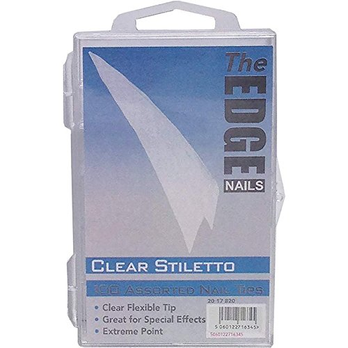 The Edge Stiletto Clear Nail Tip - Pack of 100 2017820