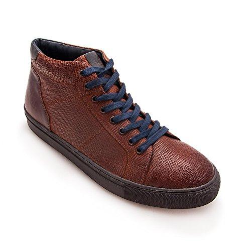 Homme Taille Zerimar 44 pour Élégantes Cuir Couleur Cognac en Chaussures XxqqwT8P64