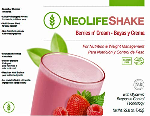 NeoLife Shake Our Delicious and Convenient NeoLifeShake Helps Satisfy Hunger While Giving You Lasting Energy. (Shake Berries n' Cream)