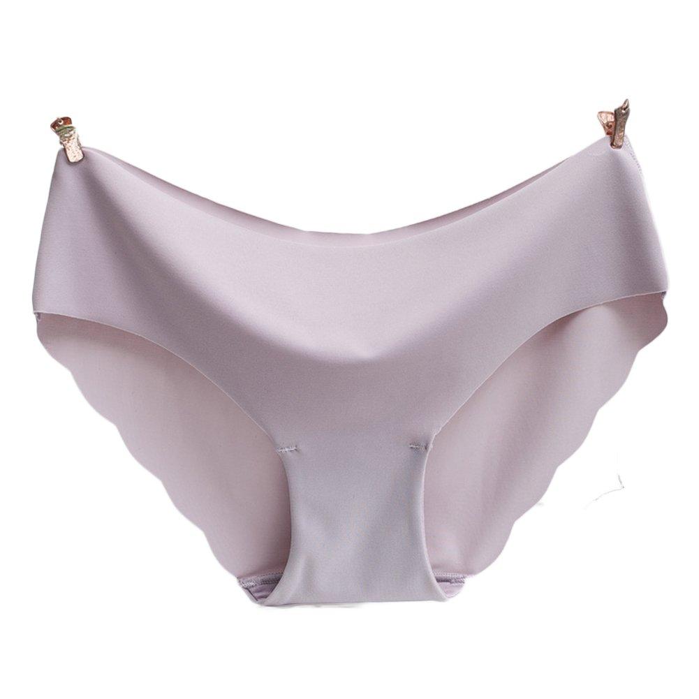4851f0d748 Amazon.com  2PCS Women s Underwear Sexy Ice Silk Panties Seamless  Transparent Pant Low Waist  Clothing