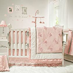Arianna 4 Piece Baby Crib Bedding Set by The Peanut Shell Pink and White