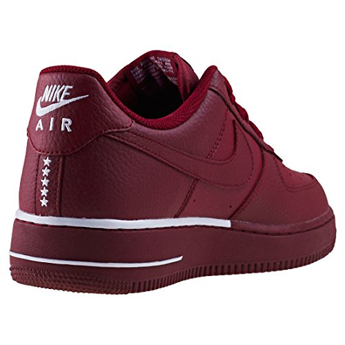 Nike Mens Air Force 1 07 Leather Trainers Team Red White