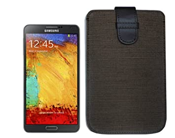 Navitech Brown Natural Eco Organic Hemp Pull Tab Cover Case Pouch Sleeve For The Lenovo S930
