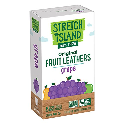 (Stretch Island All Natural Fruit Strips, Grape, 8-Count Strips, 0.5 Ounces (Pack of 6))