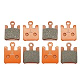 #9: Lefossi Front Carbon Fiber Brake Pads Brakes for Kawasaki ZX6R ZX6RR 03-06 ZX10R 04-07 ZX12R 04-06 VN1600 05-08 F369F