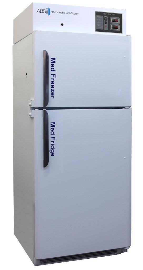 American BioTech Supply PH-ABT-RFC-16A Premier Pharmacy Combination Refrigerator/Freezer, 2 Solid Doors, 16 cu. ft. Capacity, White