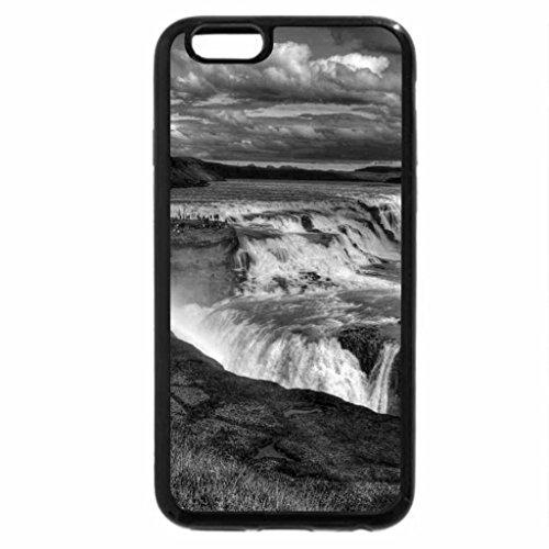 iPhone 6S Plus Case, iPhone 6 Plus Case (Black & White) - Gullfoss Golden Falls , Iceland