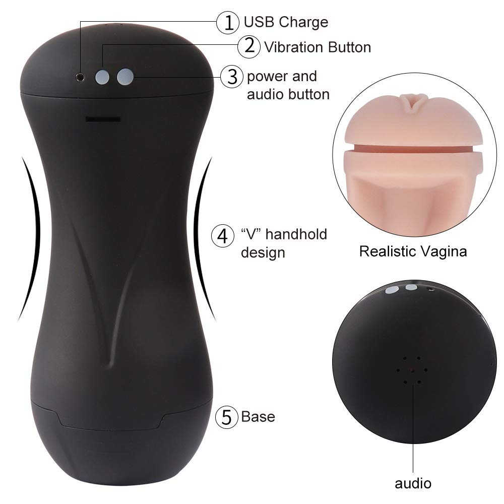 Yundajie Vibrating 10 Rotation Modes Deep Throat Electric Automatic Wand Massager Cup Adult Sex Products Male Mastubratìon Cup T-Shirt (Color : Black) by Yundajie