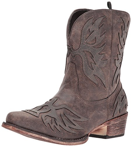 (ROPER Women's Amelia Western Boot, Brown, 9.5 Medium US)