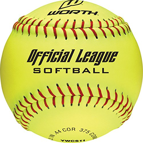 [Worth YWCS11S 11-Inch Official Softball League Stamped Optic Yellow 4 Balls in a Bag Softballs (Pack of 4)] (League Optic)