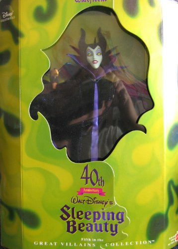 Great Collection Villains - Disney MALEFICENT Barbie DOLL 40th Anniversary SLEEPING BEAUTY - Limited Edition Great Villains 5th in Series (1998)