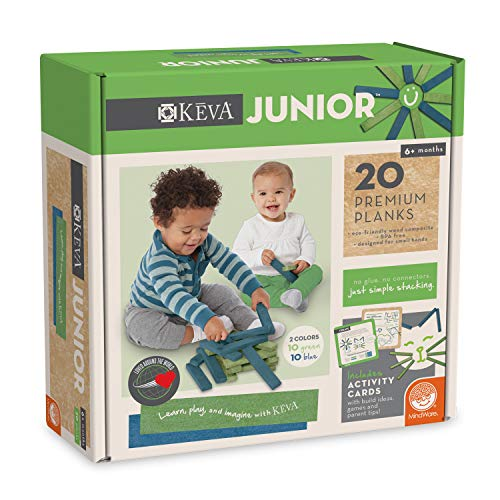 MindWare KEVA Junior 20 Premium Plank Set for Toddlers
