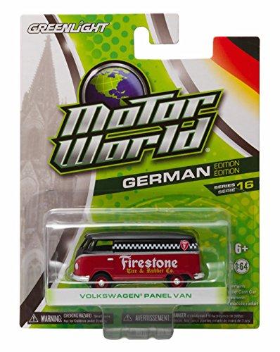 FIRESTONE VOLKSWAGEN PANEL VAN * Motor World Series 16 * German Edition 1:64 Scale 2016 Greenlight Collectibles Die-Cast Vehicle