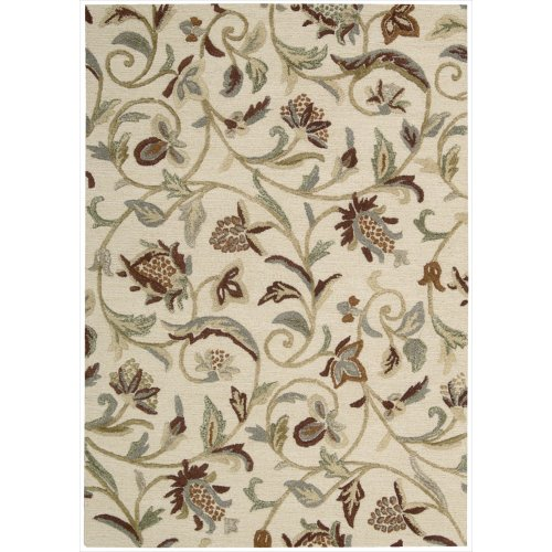 UN02) Buttercream Rectangle Area Rug, 3-Feet 6-Inches by 5-Feet 6-Inches (3'6