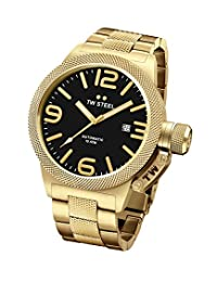 Tw Steel Cb96 Men's Canteen Auto Gold-Tone Ss Black Dial Watch