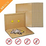 Aspectek Mouse Traps, Peanut Butter Scented Mouse Glue Traps, Mouse Size Sticky Boards(10 Pack)
