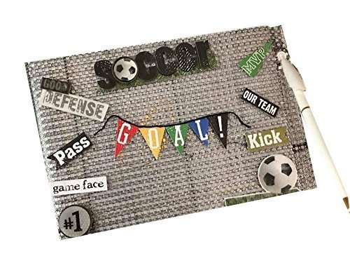 Soccer Footballer Birthday Party Guest Book Boys Girls Signature Book by onlinepartycenter