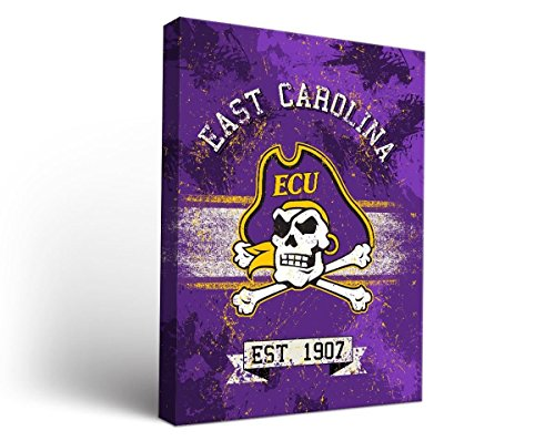 (Victory Tailgate East Carolina University ECU Pirates Canvas Wall Art Banner Design (12x12))