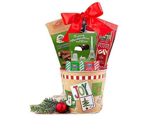 Christmas Sweets A Festive Gift Basket For Holiday Gifting. Delightful and Delicious Gifting. Contains Treats To show Appreciation All Year Round. -