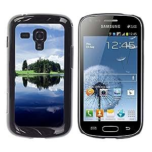 Be Good Phone Accessory // Dura Cáscara cubierta Protectora Caso Carcasa Funda de Protección para Samsung Galaxy S Duos S7562 // Nature Beautiful Forrest Green 125