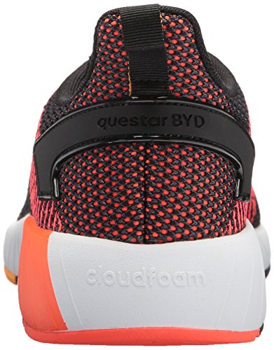 adidas Men's Questar BYD Running Shoe, Black/White/Solar red, 7 M US by adidas (Image #2)