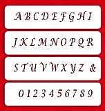 Designer Stencils C307 Small Letters Cake Stencils, Beige/semi-transparent