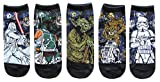 Star Wars Starry Night Vader Fett Yoda Juniors/Womens 5 Pack Ankle Socks Size 4-10