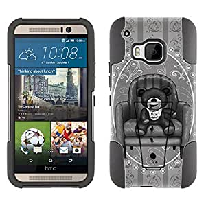 HTC ONE M9 Hybrid Case Scary Stitched Doll 2 Piece Style Silicone Case Cover with Stand for HTC ONE M9