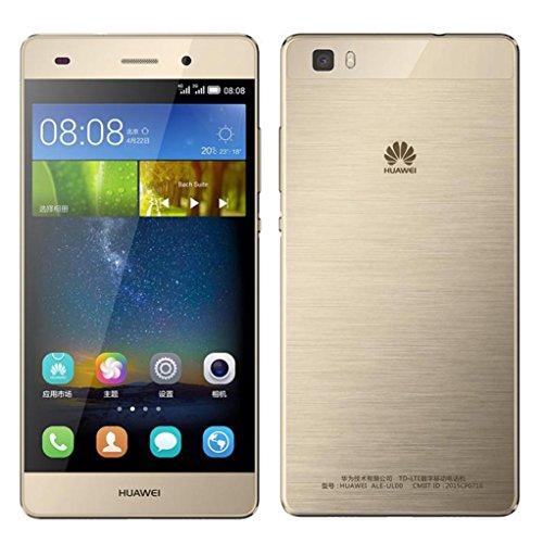 Trumpshop Smartphone Carcasa Funda Protección para Huawei P8 Lite (2017) + Verde + Ultra Delgada Cuero Genuino Caja Protector con Función de Soporte Ranuras para Tarjetas Crédito Choque Absorción Azul