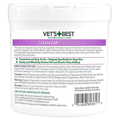 Vets Best Ear Cleaning Pads for Dogs - 50 Pads
