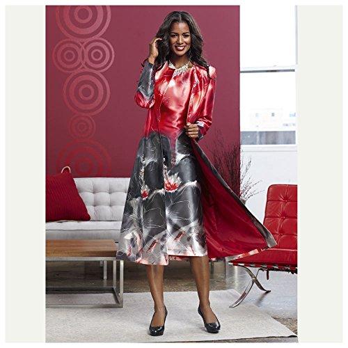 Bold Floral Jacket Dress by JORDAN VINEYARD & WINERY