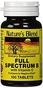 Nature's Blend Full Spectrum B with Vitamin C 100 Tabs