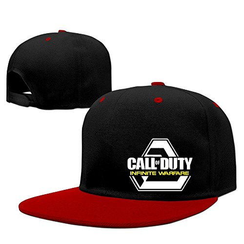 Custom Unisex First-person Shooter Video Game Adjustable Baseball Caps Hat Red