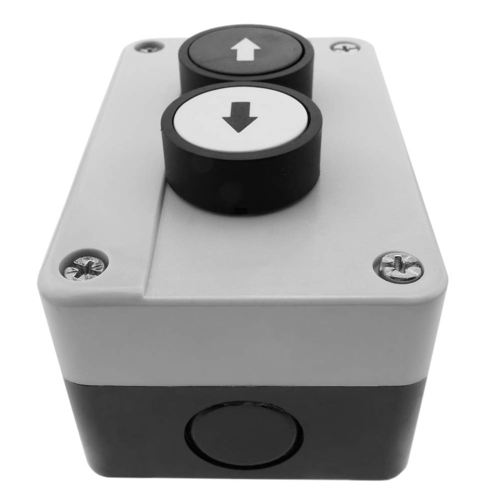 Control box with 2 momentary push buttons with arrows 2NO BeMatik