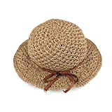 Foldable Summer Shapable Straw Hat for Women Hand Woven Sun Hat Travel Beach Cap Wide Brim for Hiking Walking Traveling