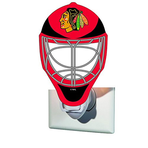 - Team Sports America Chicago Blackhawks Goalie Mask Glass Night Light