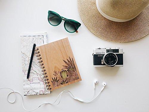 Desert Garden Laser Cut Wood Journal (Notebook / Birthday Gift / Gratitude Journal / Handmade)