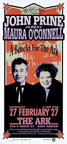 John Prine Poster The Ark Ann Arbor 2000 Original Signed Silkscreen by Mark Arminski -