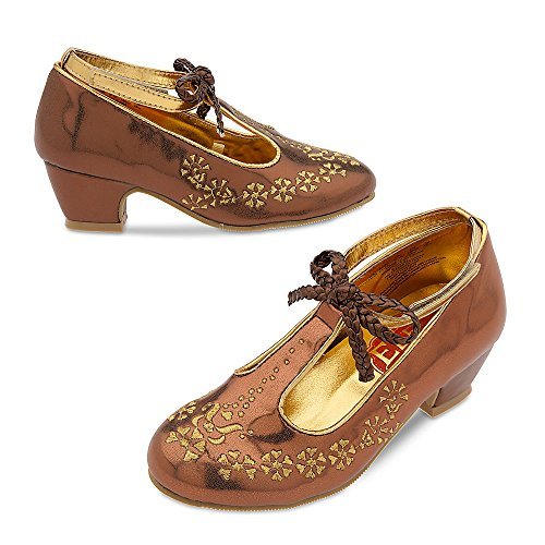[Disney Elena of Avalor Costume Shoes for Kids Size 7/8 TODLR Gold 428430214833] (Costumes Shoes For Kids)