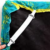 Pulison Sheet Clip Adjustable Heavy Duty Bed Sheet Grippers Holders Cover Suspenders Corner Gripper Holder Clip for Fitted Bed Sheets Mattress Pad Covers Sofa Cushion