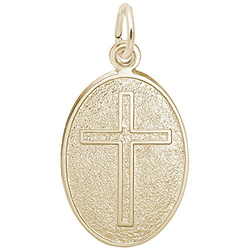 Rembrandt Charms, Cross, 22k Yellow Gold Plated Silver, Engravable