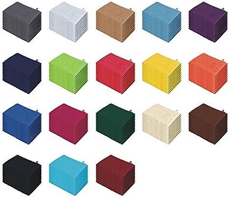 10er pack de 100/% algod/ón marr/ón chocolate Pack de 10 //20 manoplas de ba/ño en muchos colores manoplas 15 x 21 cm