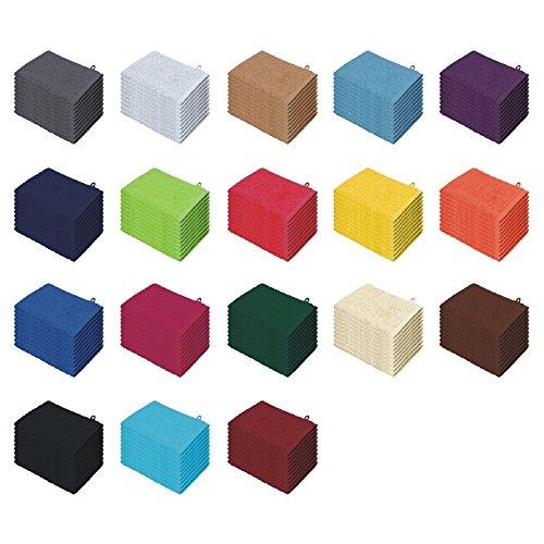Handtücher   Duschtücher Set - 6x Handtuch + 2x Duschtuch - 100% Baumwolle - Farbe Türkis B01M336US4 Sets