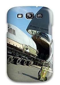 Galaxy S3 Cargo Aircraft Print High Quality Tpu Gel Frame Case Cover