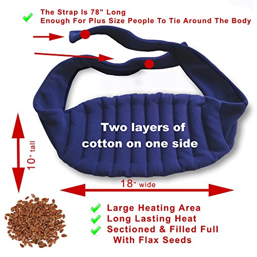 Sunny Bay Lower Back and Shoulder Joint Heat Wrap with Extra