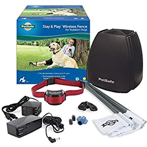 PetSafe-Stay-and-Play-Wireless-Fence-for-Stubborn-Dogs-from-the-Parent-Company-of-Invisible-Fence-Brand-Above-Ground-Electric-Pet-Fence-with-Waterproof-and-Rechargeable-Training-Collar
