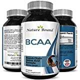 3000 mg Dosage BCAA Pills – Pure Lean Gains – Men + Women – Best Concentrated Muscle Repair – Build Muscles + Recovery – Essential Amino Acids Supplements - by Nature Bound
