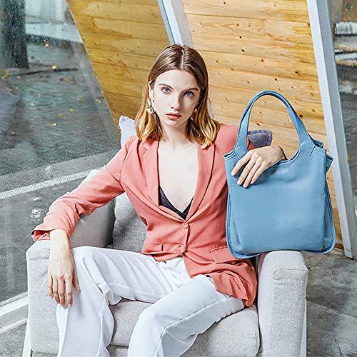 Azzurro A Hobo In signore Yoome Vintage Borse Tracolla Secchiello Borsa Per Donne Rosa Pelle Mano Durevole IgH66x