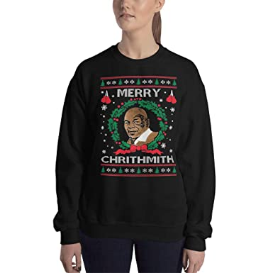 Mike Tyson Merry Chrithmith Sweatshirt Ugly Christmas Sweater For