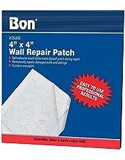Bon 15-343 - Parche adhesivo para reparación de muros y techos de yeso, aluminio inoxidable, 10,2 x 10,2 cm